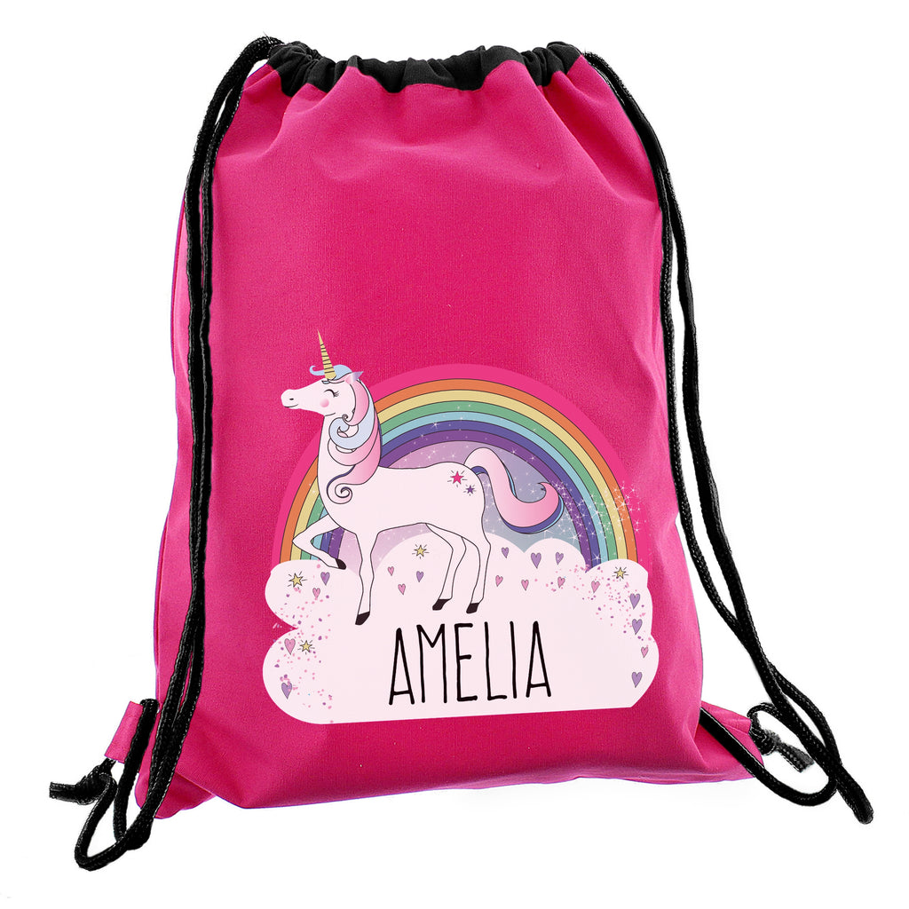 Personalised Unicorn Swim & Kit Bag Pink - Oh My Gift