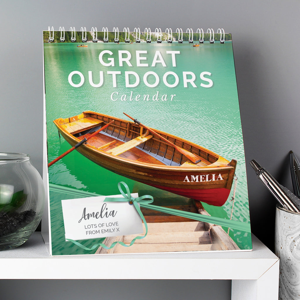Personalised Outdoors Desk Calendar - Oh My Gift