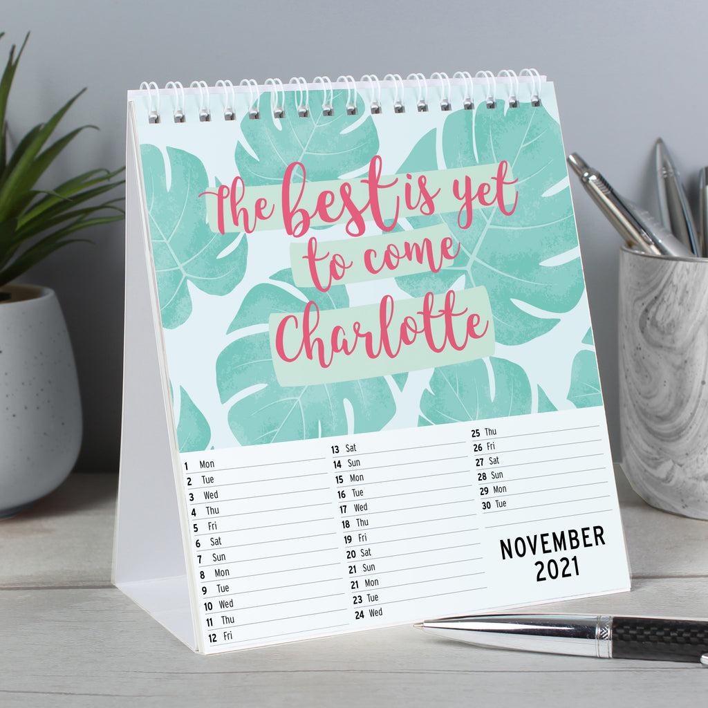 Personalised Motivational Quotes Desk Calendar - Oh My Gift