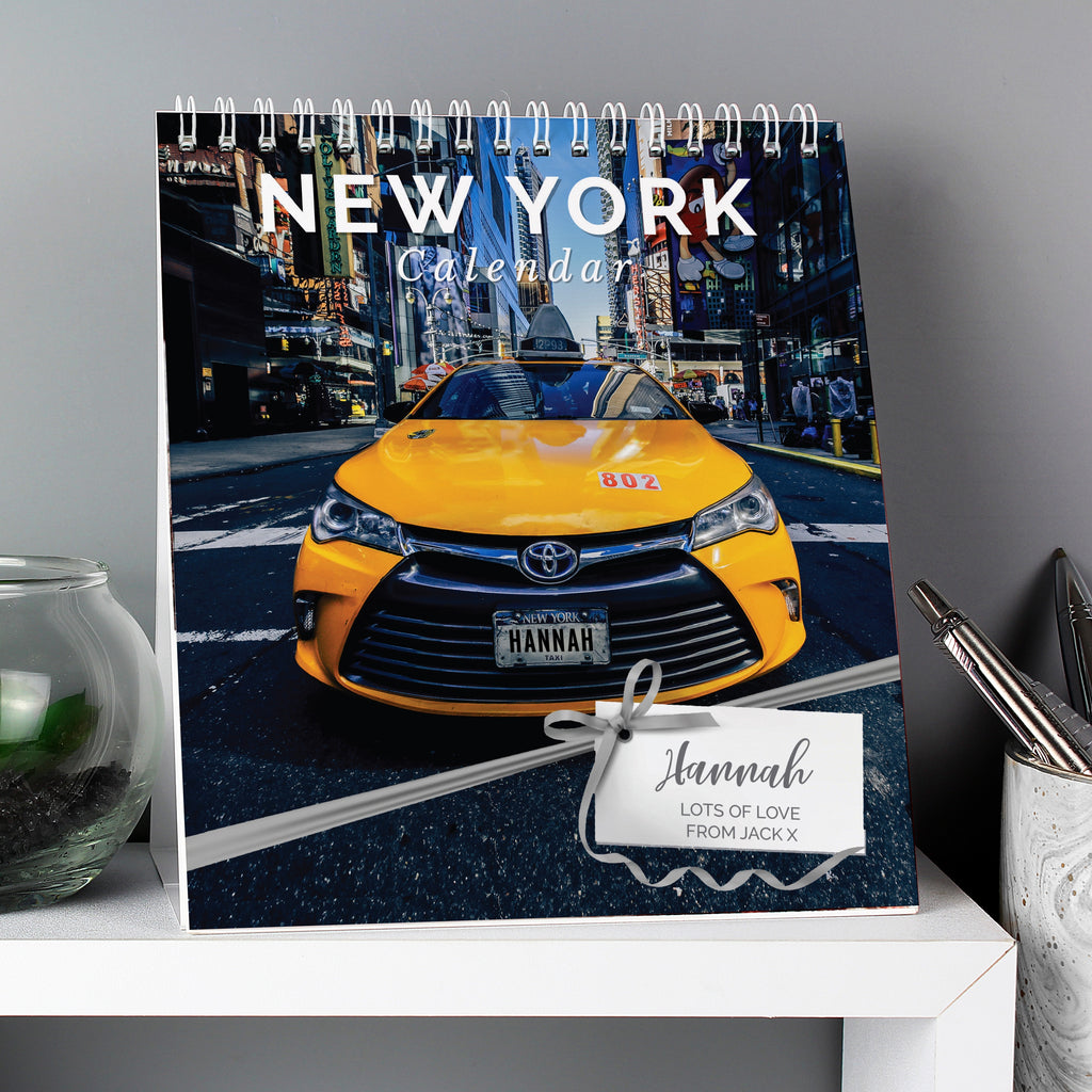Personalised New York Desk Calendar - Oh My Gift
