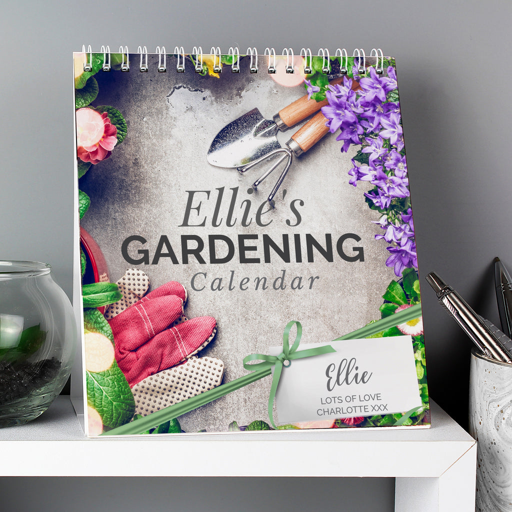 Personalised Gardening Desk Calendar - Oh My Gift