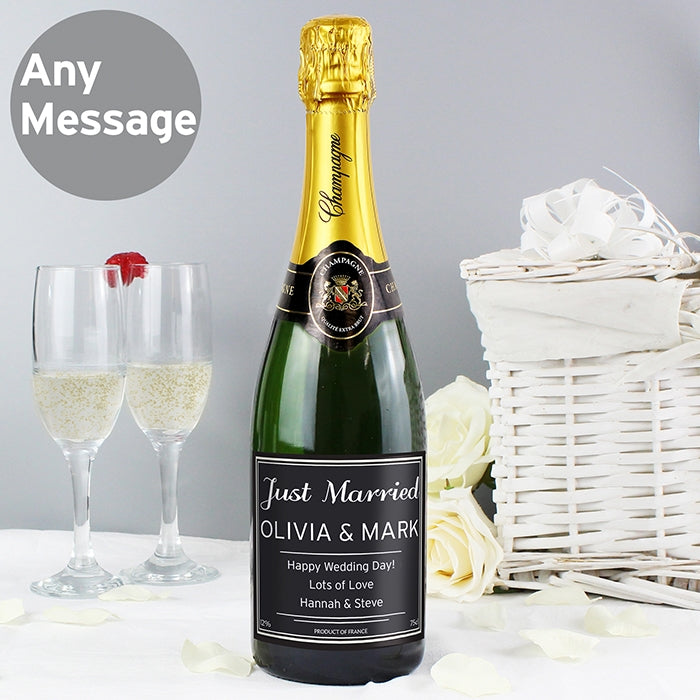 Personalised Classic Champagne with Personalised Just Married Label - Oh My Gift