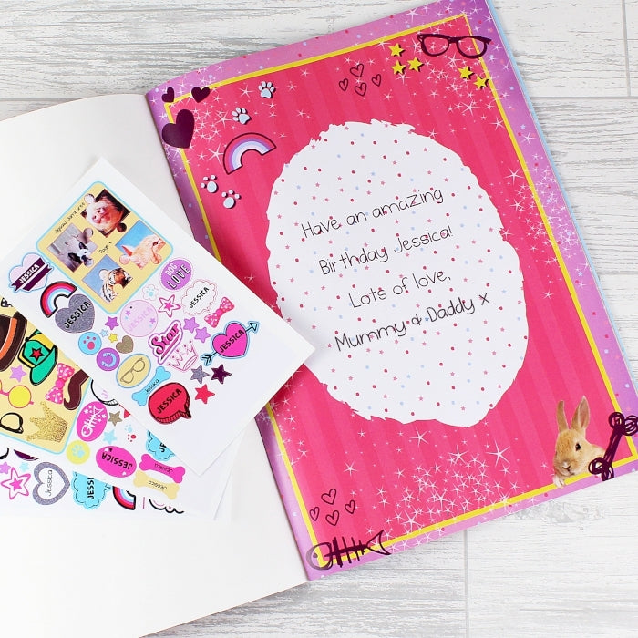 Personalised Adorable Animals Activity Book With Stickers Inside Page - Oh My Gift