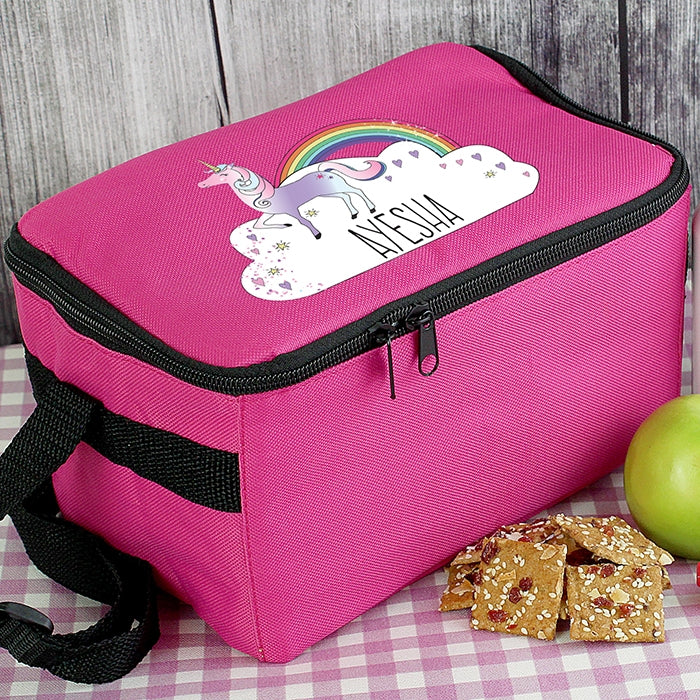 Pink Unicorn Lunch Bag with name - Oh My Gift