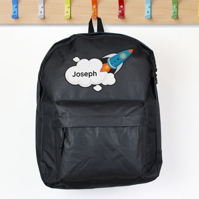 Personalised Rocket Backpack - with name - Oh My Gift