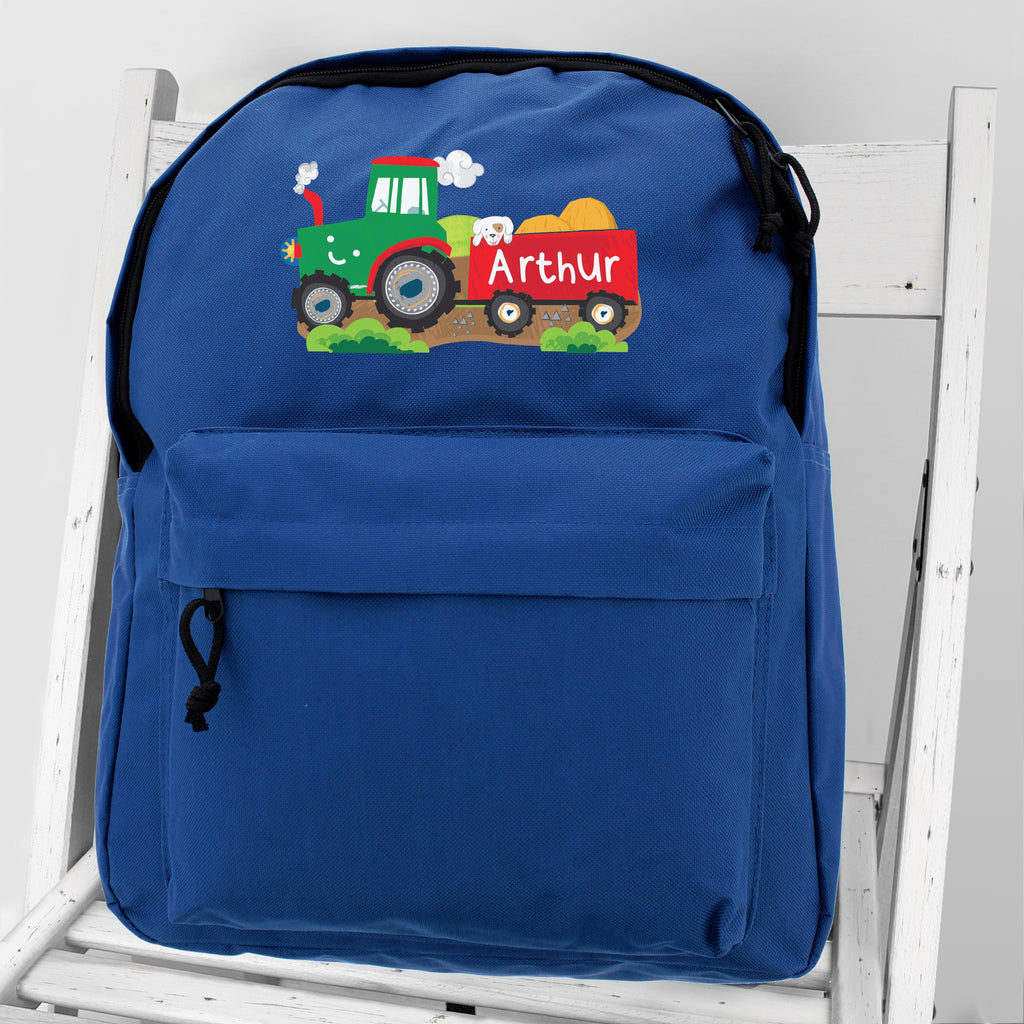Personalised Tractor Backpack - any name - Oh My Gift