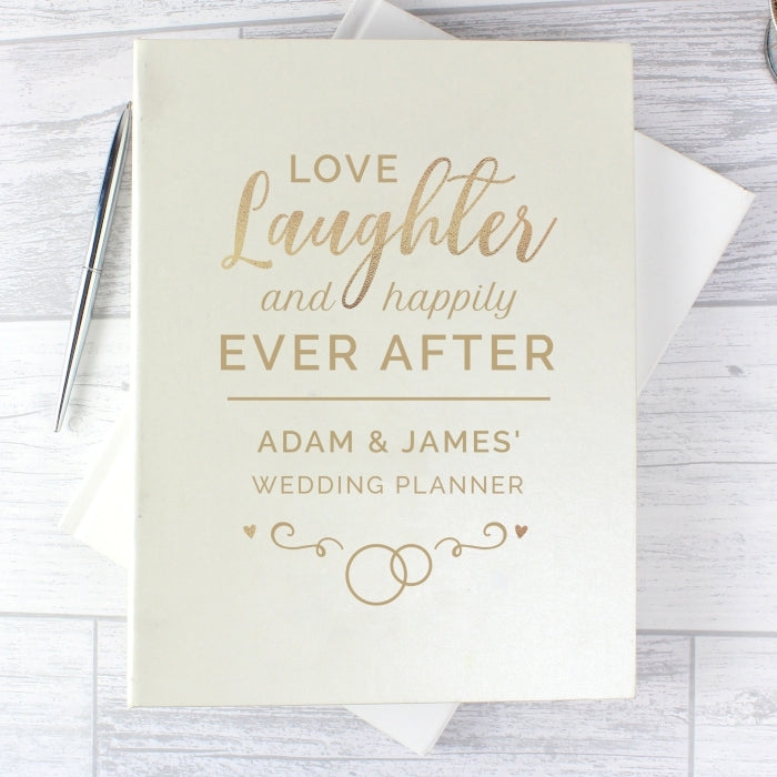 Personalised Happily Ever After Wedding Planner Front Cover - Oh My Gift