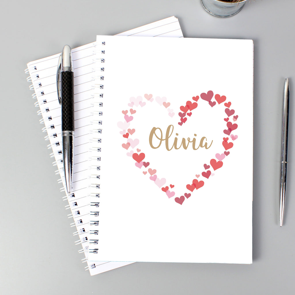 Hearts A5 Notebook - Oh My Gift