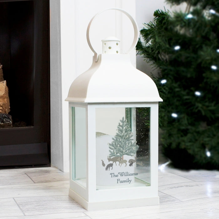 Personalised A Winter's Night White Lantern - Oh My Gift