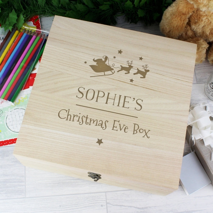 Personalised Large Wooden Christmas Eve Box Sophie - Oh My Gift