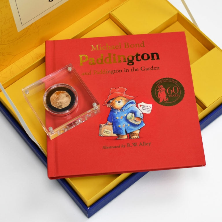 Paddington Bear Gold Royal Mint Collection Box