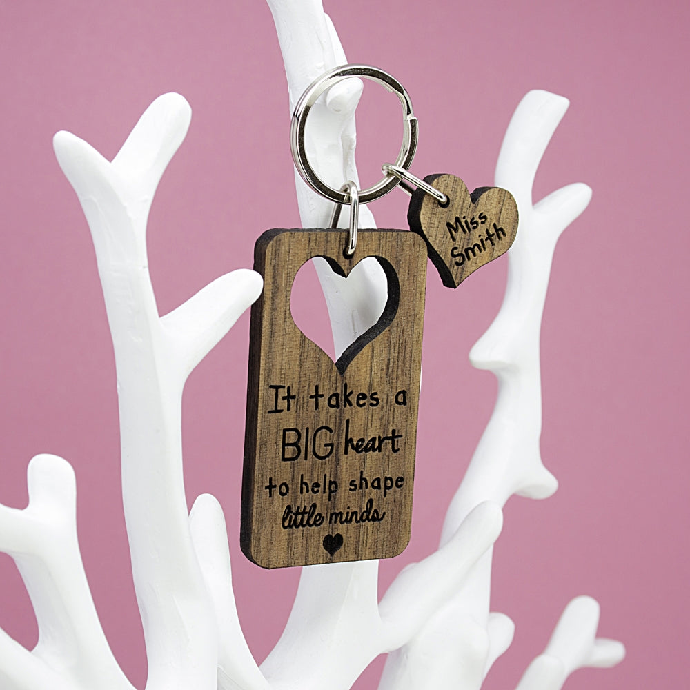 Personalised Teachers Keyring Hanging Up - Oh My Gift