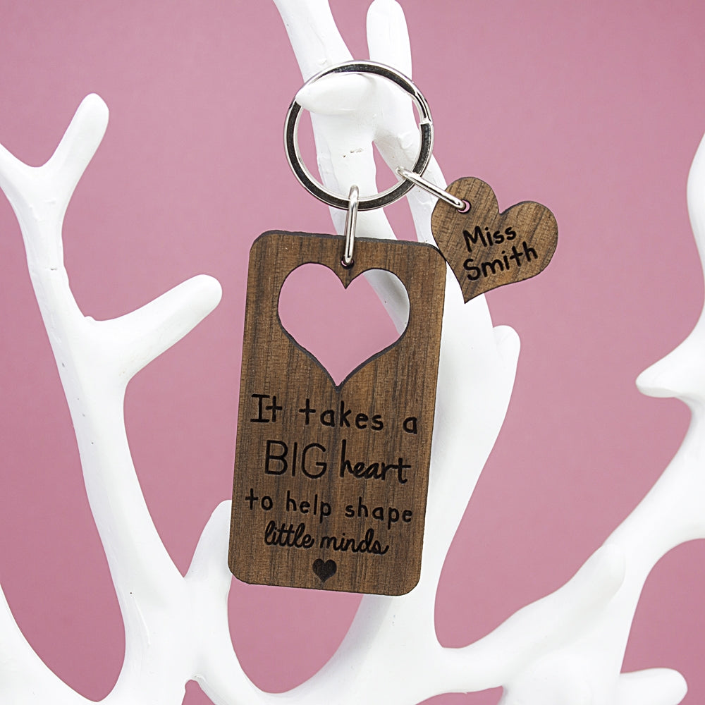 Personalised Teachers Keyring on Display - Oh My Gift