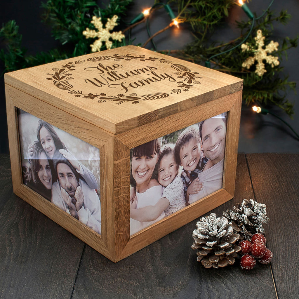 Personalised Family's Christmas Memory Box for Photos and keepsakes - Oh My Gift