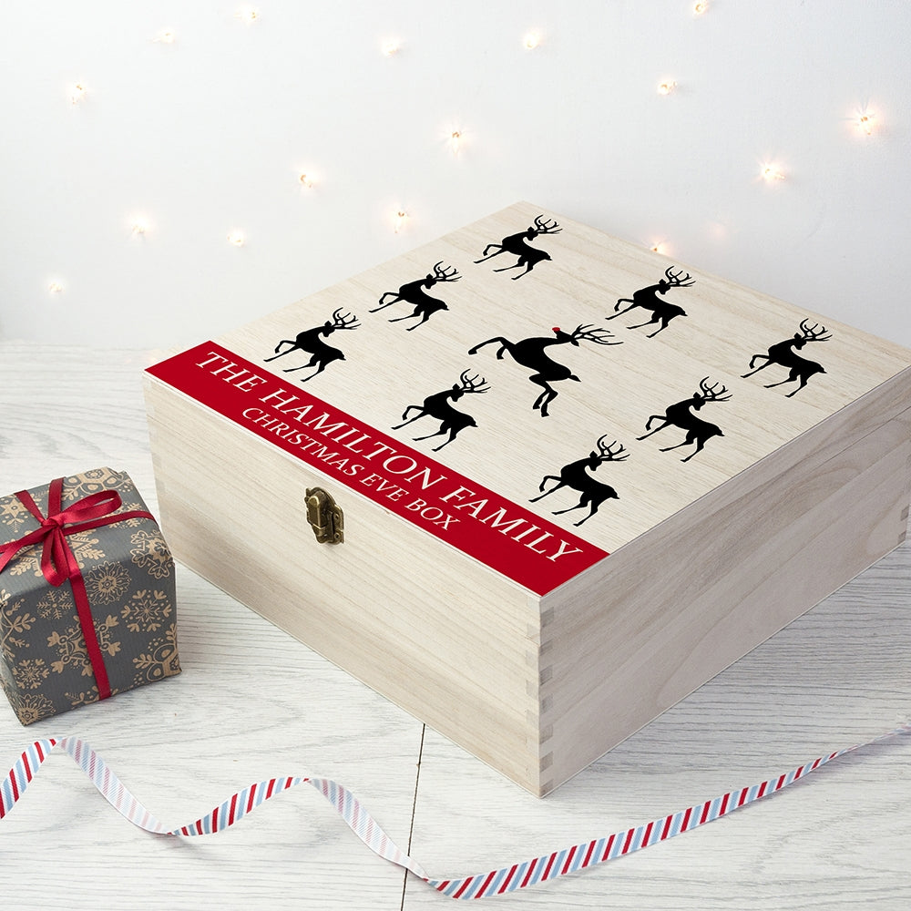 Personalised Reindeer Family Christmas Eve Box - Oh My Gift