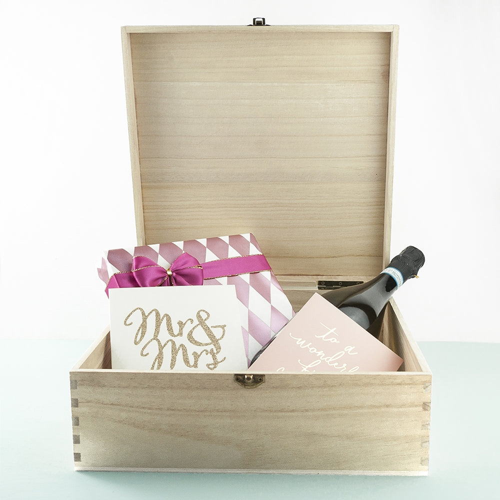 Personalised Wedding Memory Box Lid Open - Oh My Gift