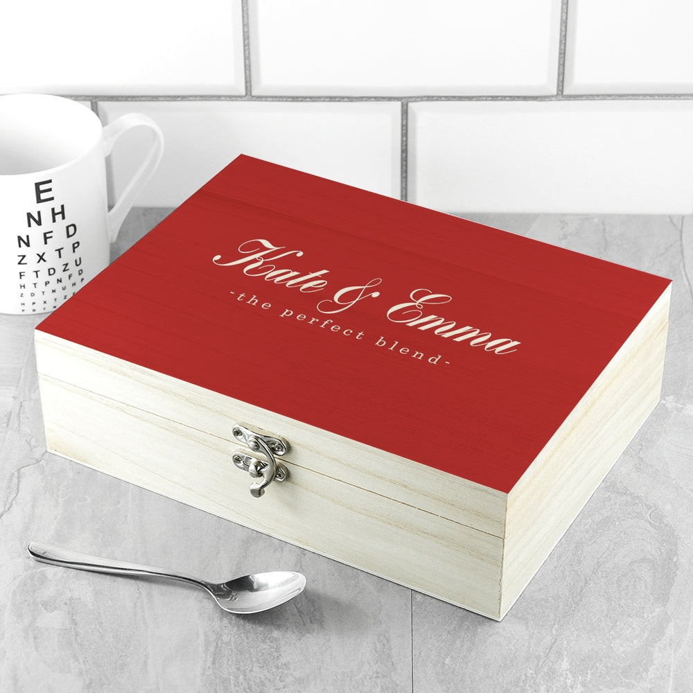 Personalised The Perfect Blend Tea Box - Oh My Gift