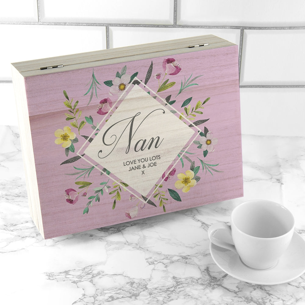 Mother's Day Tea Box Personalised with name - Oh My Gift