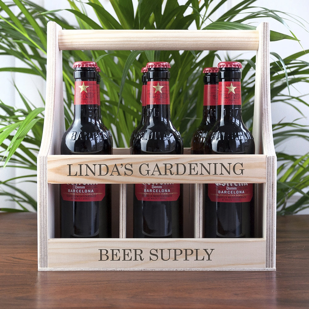 Personalised Garden Beer Supply Crate - Oh My Gift