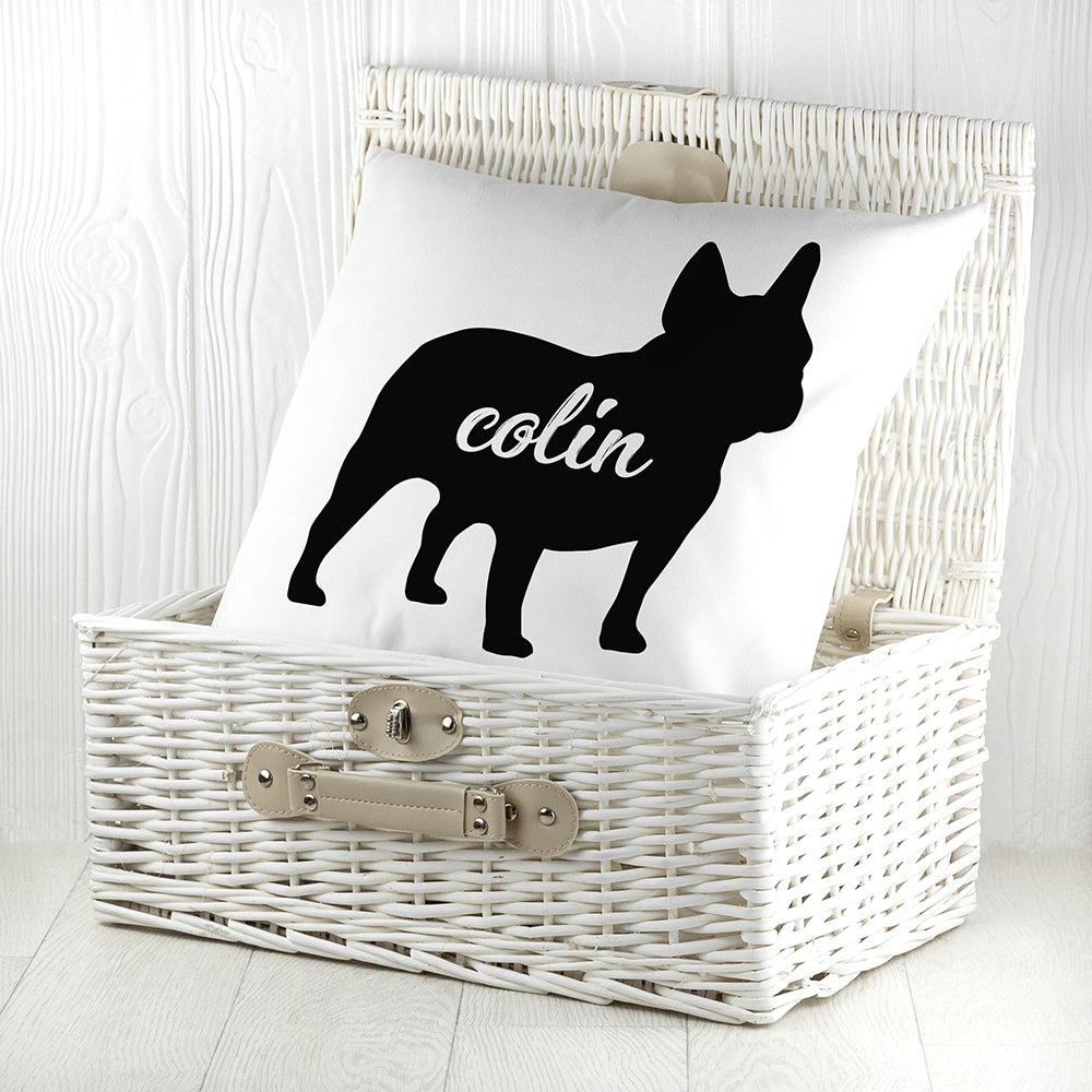 Personalised Bulldog Silhouette Cushion Cover - Oh My Gift