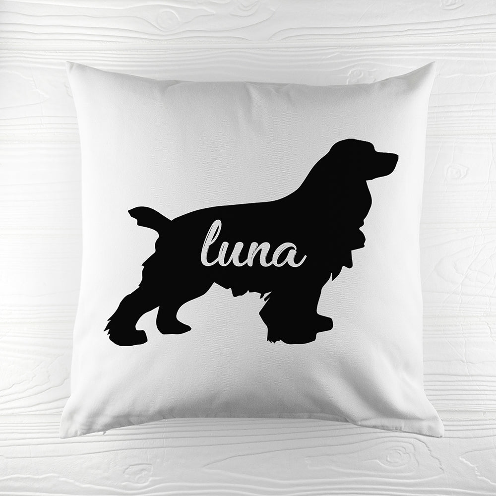 Personalised Cocker Spaniel Silhouette Cushion Cover - Perfect Gift for Spaniel Owners - Oh My Gift