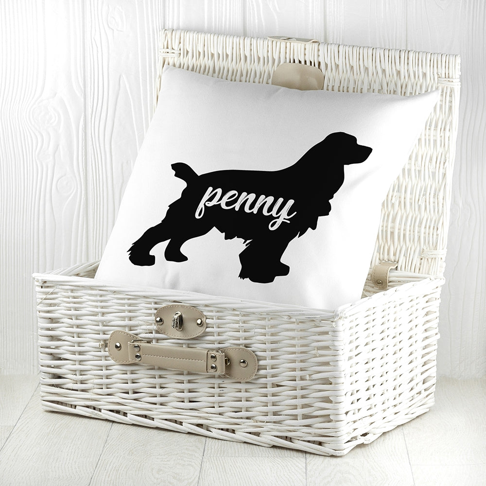 Personalised Cocker Spaniel Silhouette Cushion Cover - Oh My Gift
