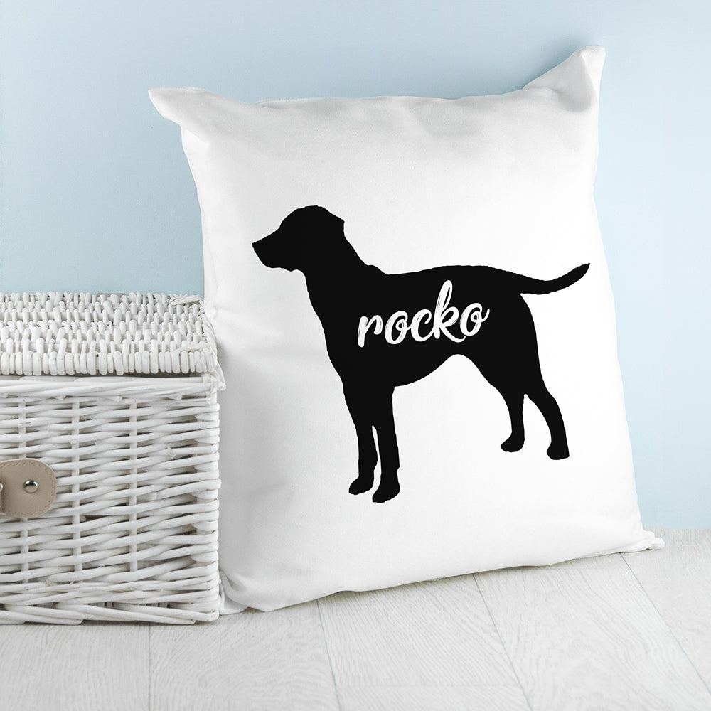 Personalised Labrador Silhouette Cushion Cover - Perfect Gifts for Lovers of Labradors - Oh My Gift