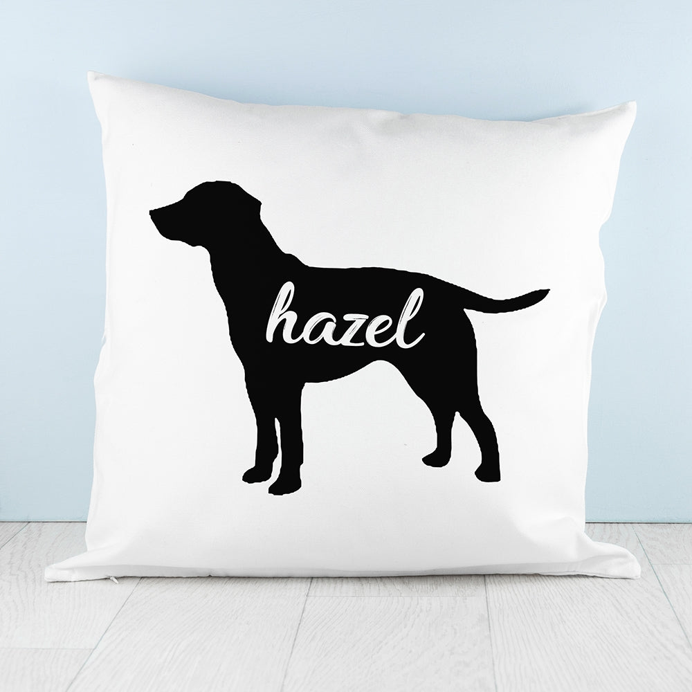 Personalised Labrador Silhouette Cushion Cover -Great Gift for Labrador Owners - Oh My Gift