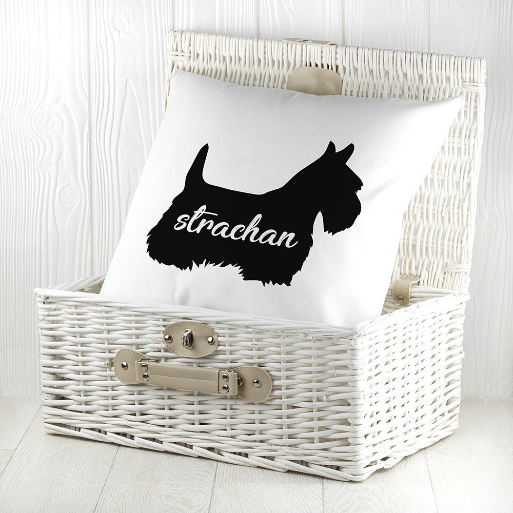 Personalised Scottish Terrier Silhouette Cushion Cover - Oh My Gift