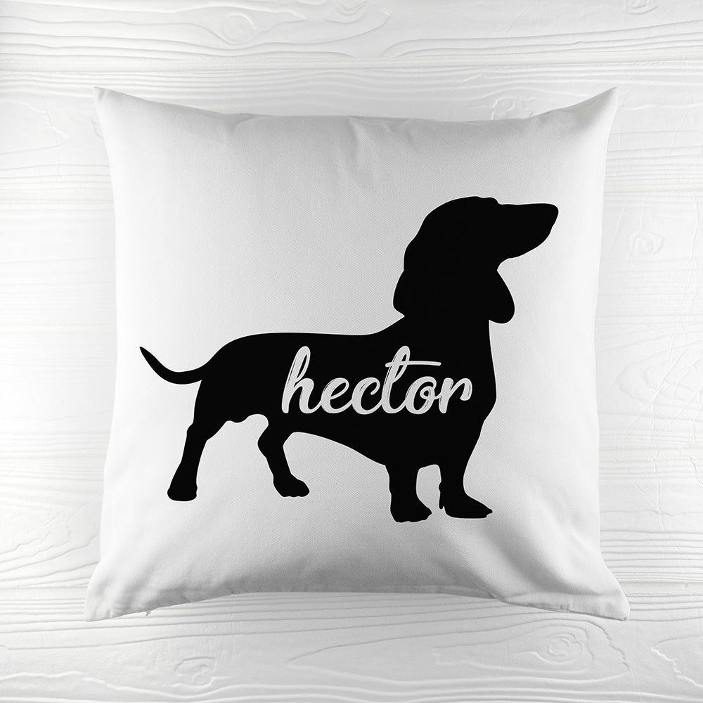 Personalised Daschund Silhouette Cushion Cover - Perfect Gift for Daschund Owners - Oh My Gift