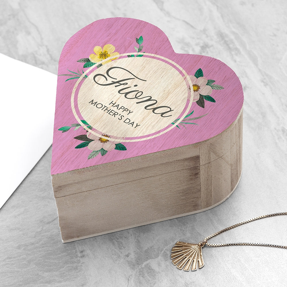 PERSONALISED MOTHER'S DAY HEART TRINKET BOX - Oh My Gift
