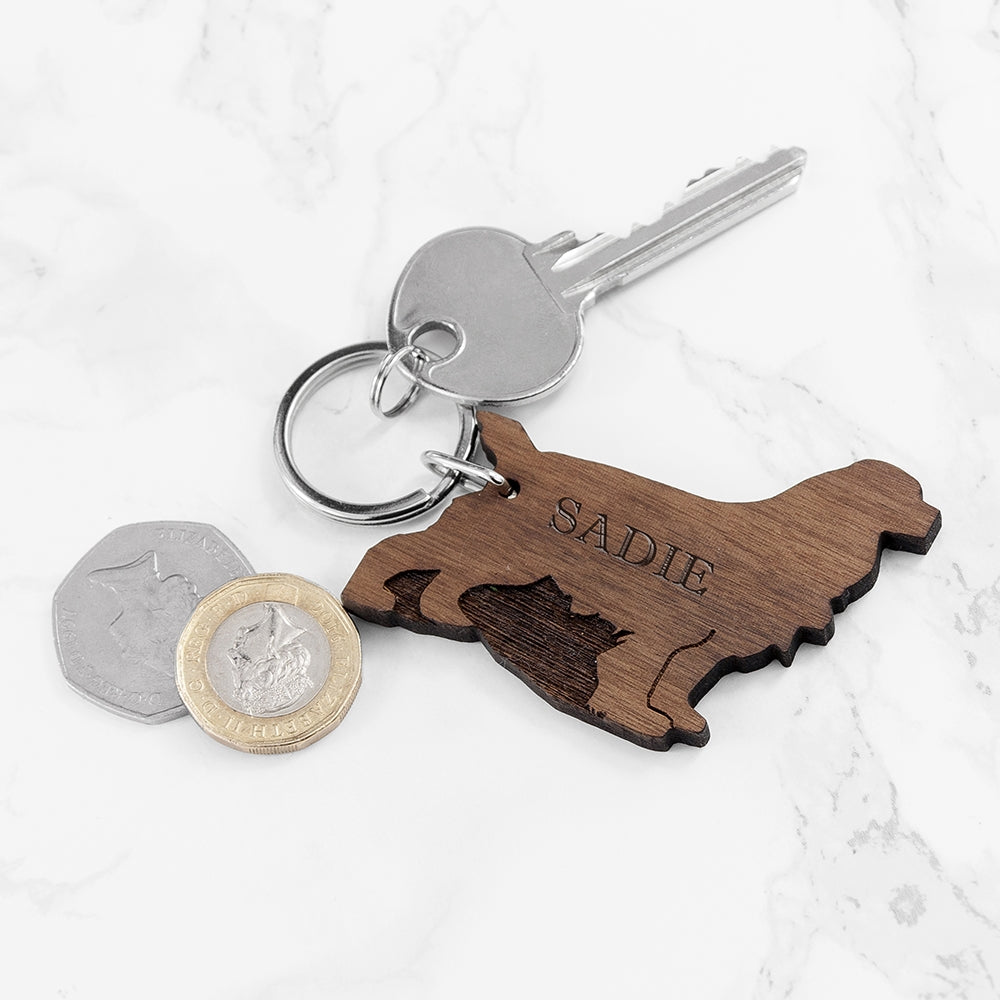Wooden Dog Keyring - Oh My Gift