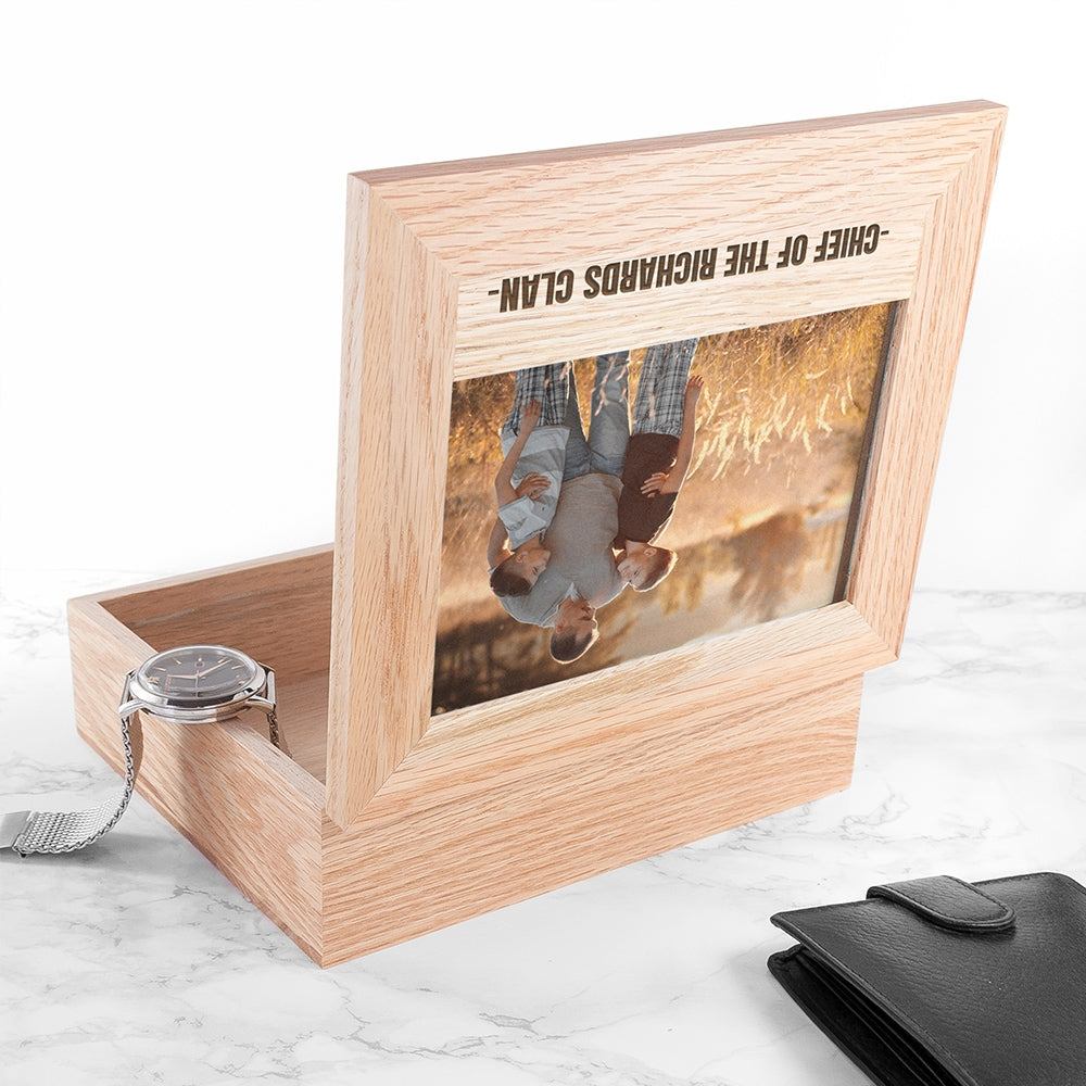 Personalised Father's Day Photo Box Open - Oh My Gift