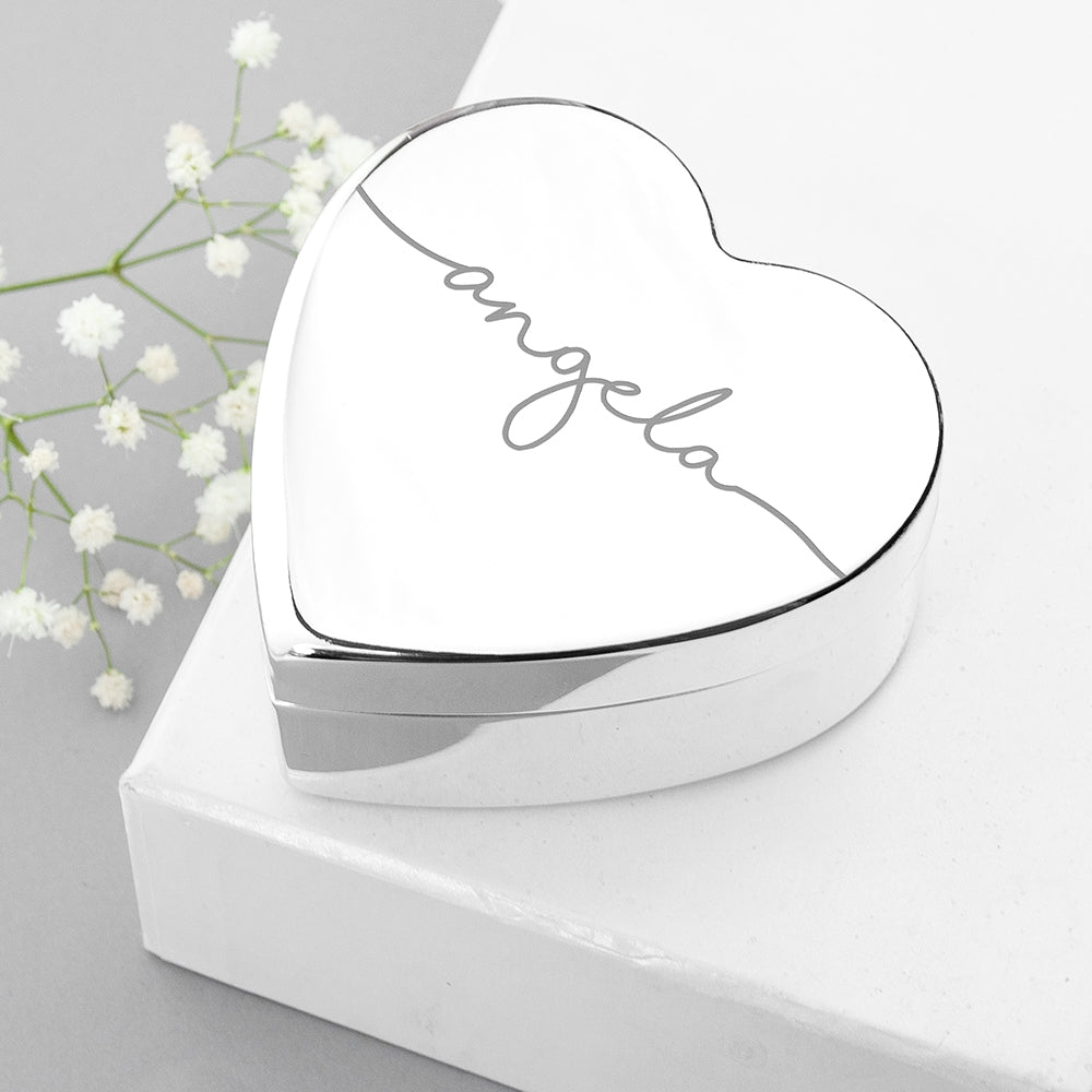 Personalised Heart Jewellery Box