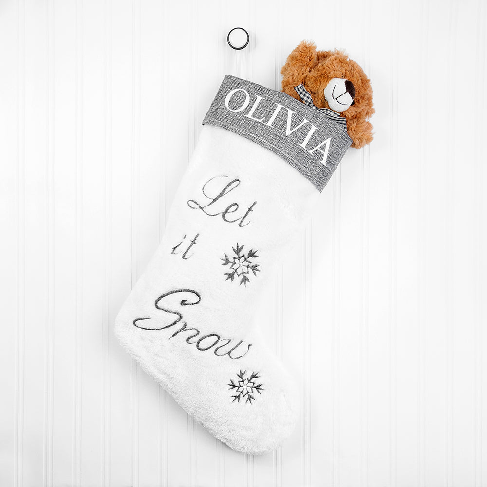'Let it Snow' Christmas Stocking - Personalised