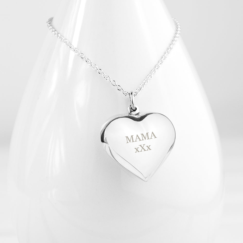 Personalised Silver Cherish Heart Necklace - Perfect Gift - Oh My Gift