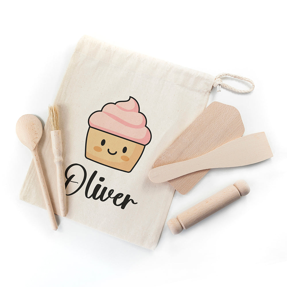 Kids Cupcake Baking Set with Personalised Bag