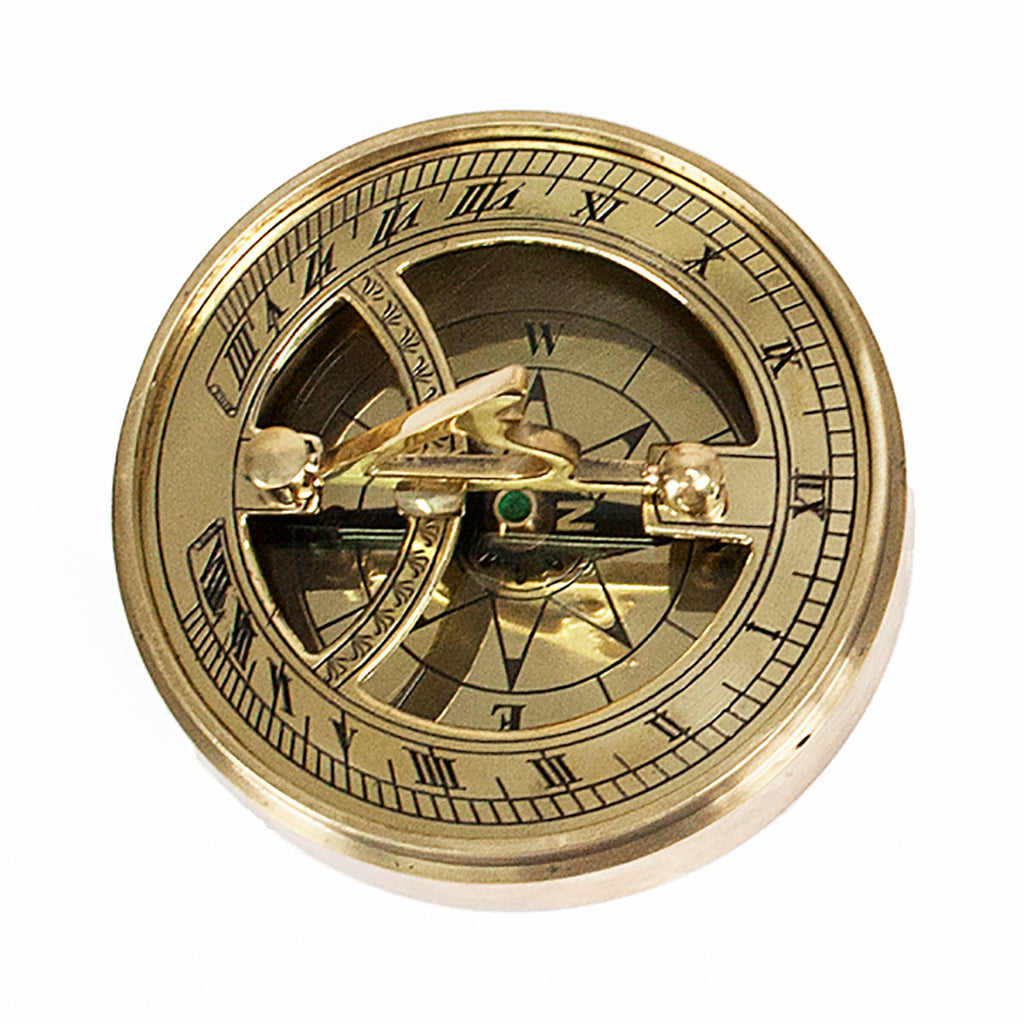 Adventurer's Brass Sundial and Compass Personalised with Enscription - Oh My Gift