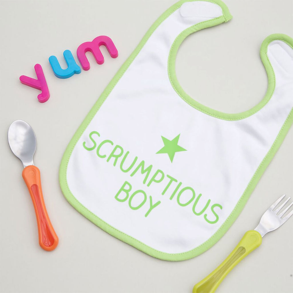 Personalised Scrumptious Baby Bib - Oh My Gift