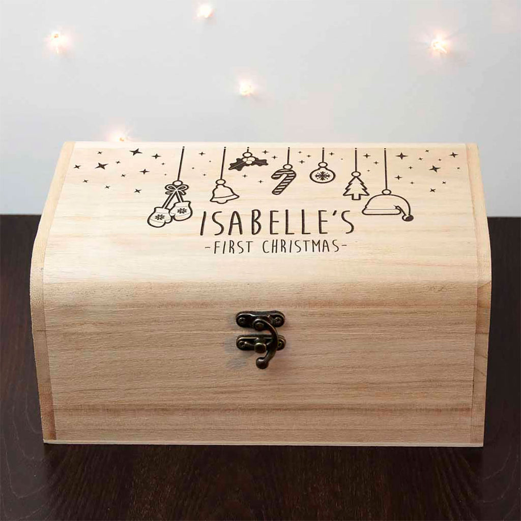 First Christmas Eve Chest Personalised with Baby's Name - Oh My Gift