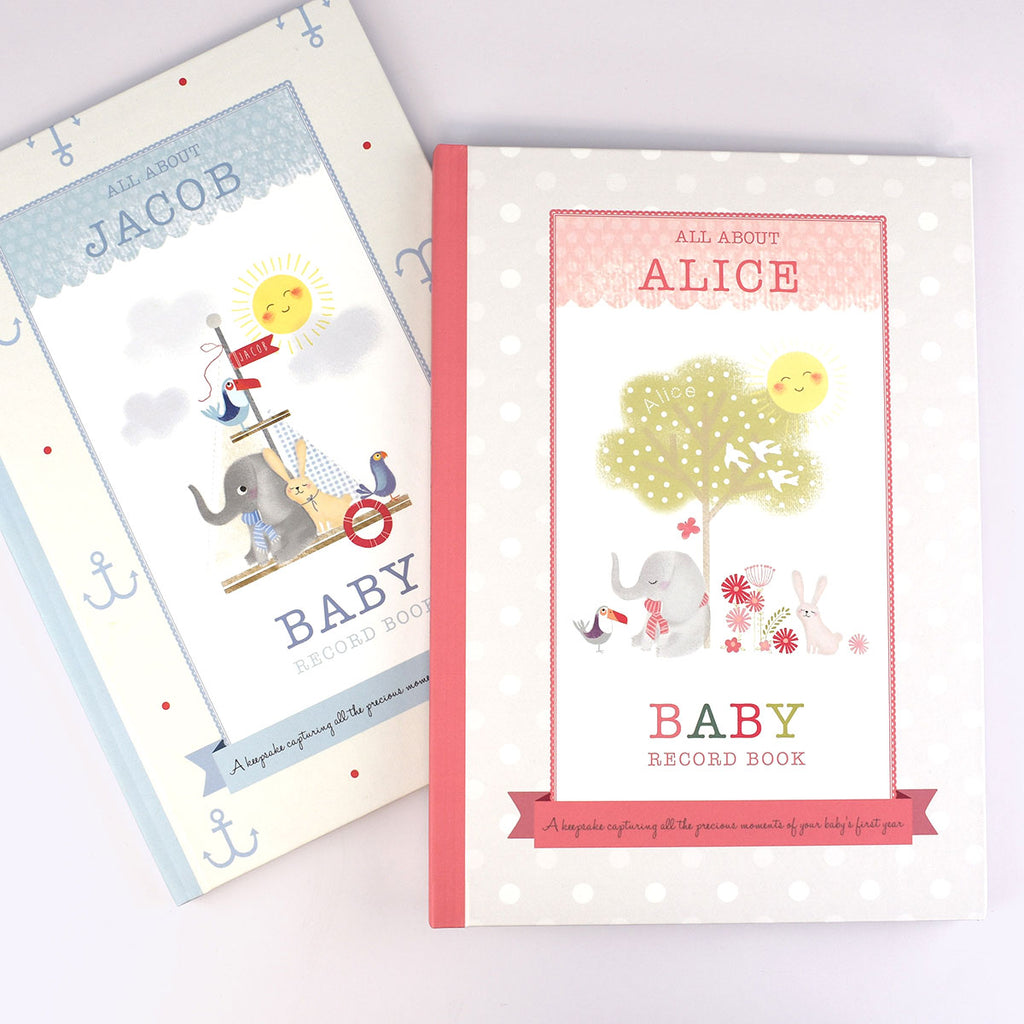 Personalised Baby Record Books - Boy & Girl - Oh My Gift