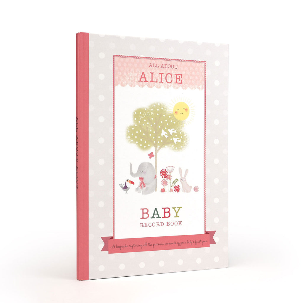 Personalised Baby Record Books - Oh My Gift - for a Girl