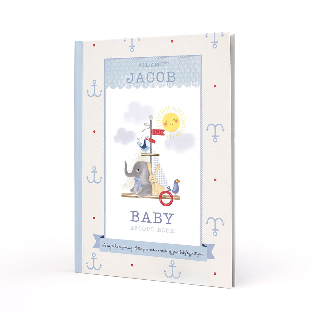 Personalised Baby Record Books - Oh My Gift - for a Boy