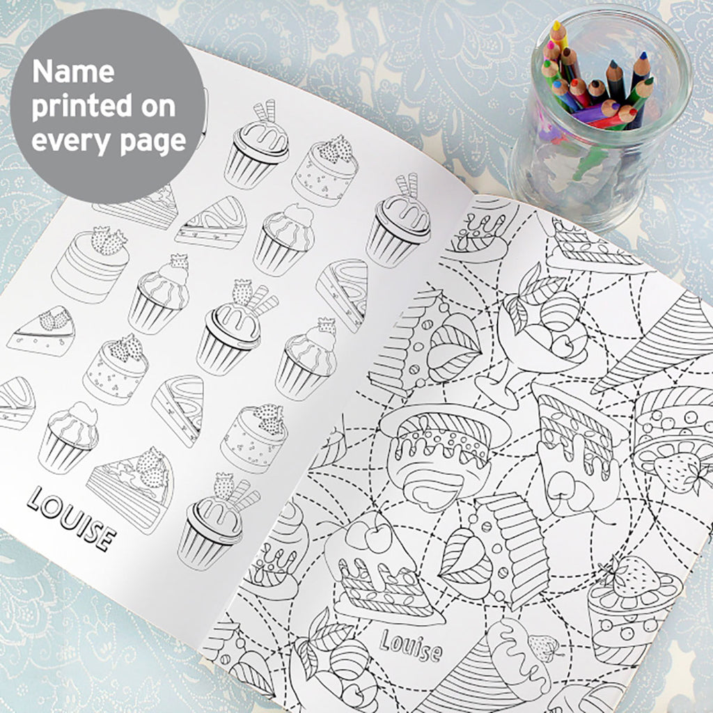 Personalised Message Baking Colouring Book - Oh My Gift