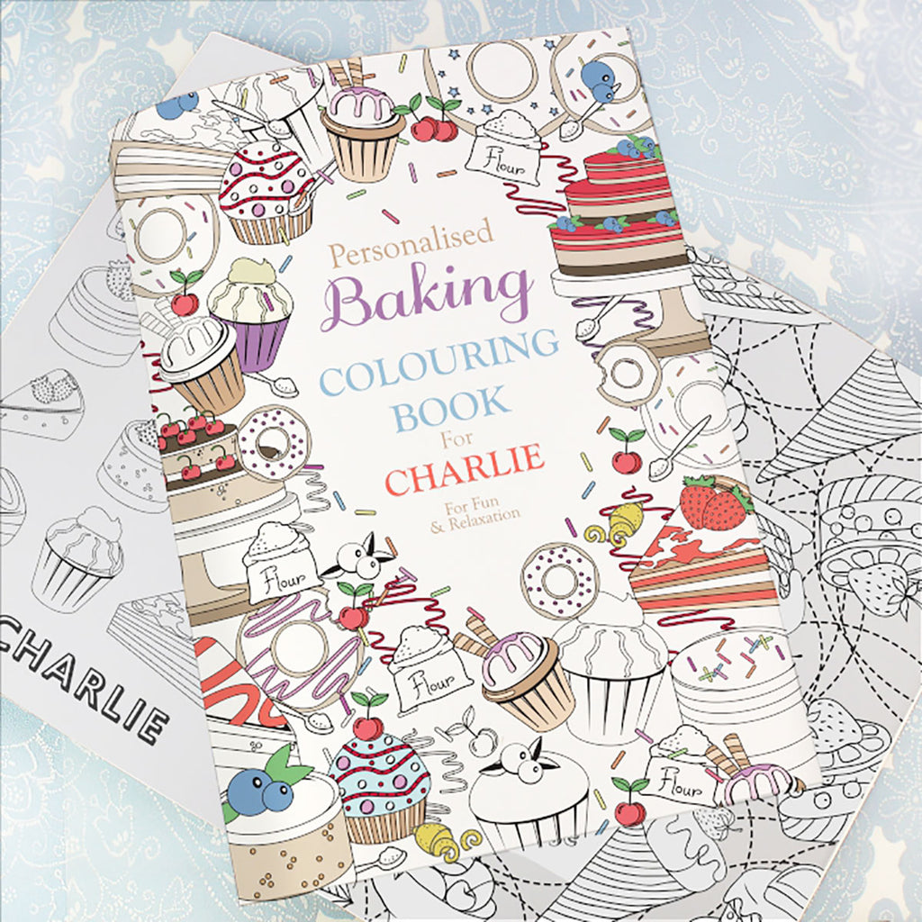 Personalised with Your Name Baking Colouring Book - Oh My Gift