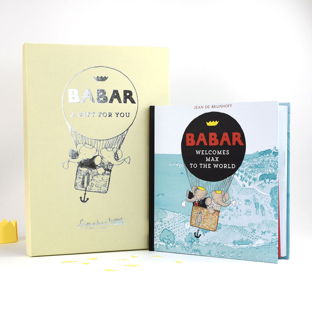 Personalised Babar Welcomes You to the World Book - Oh My Gift - Includes Gift Box