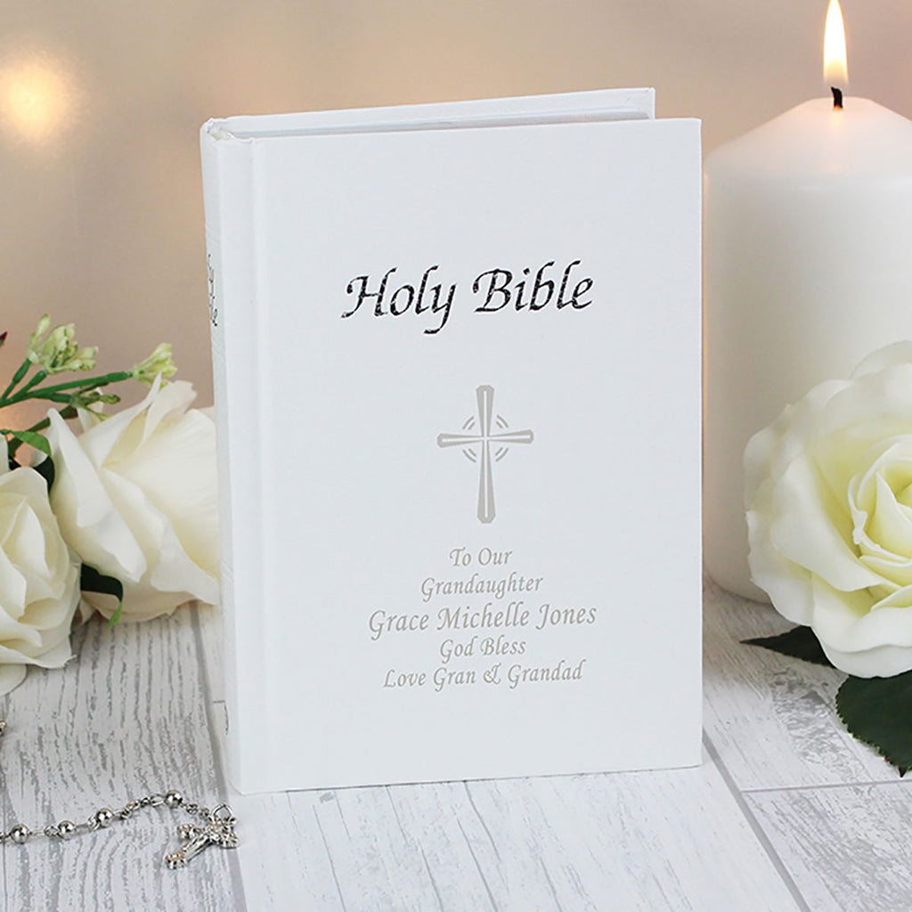 Personalised Message on Front Cover of Bible - Oh My Gift