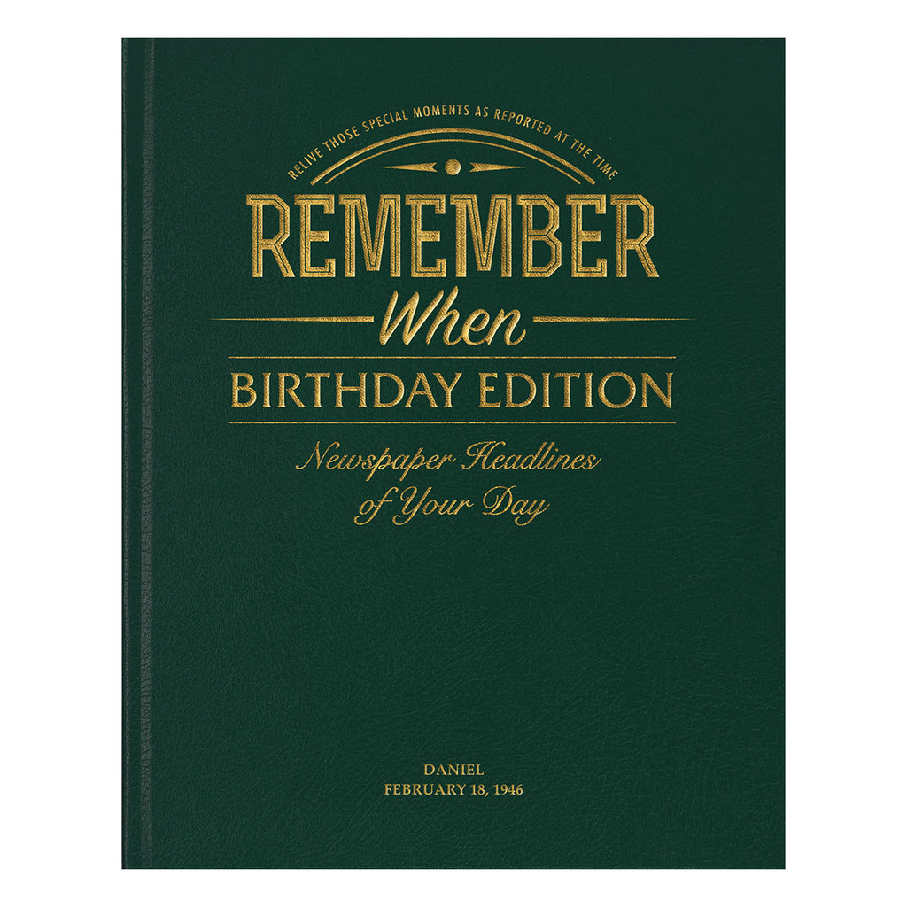 Personalised Birthday Newspaper Book - Oh My Gift