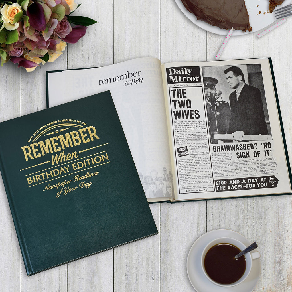 Personalised Birthday Newspaper Book Showing Cover and Pages - Oh My Gift