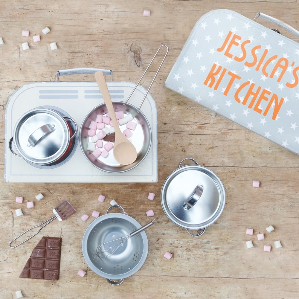 Personalised Children's Cooking Set in Use - Oh My Gift
